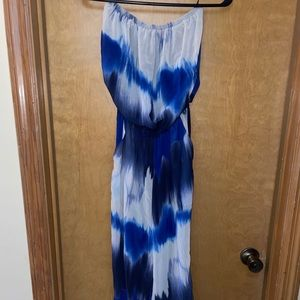 NY&C Strapless Multi-Colored Jumpsuit